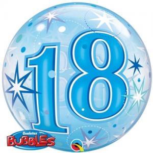 Bubbles ballong 18 år blå