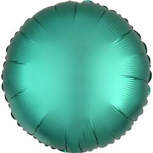 Cirkel chromé folieballong grön