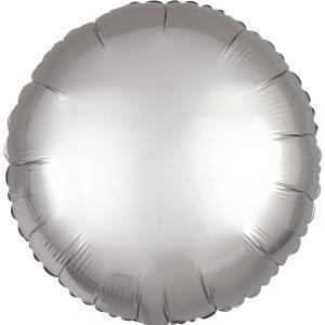 Cirkel chromé folieballong silver