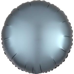 Cirkel chromé folieballong blå