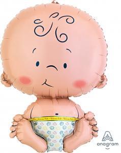 folieballong sittande bebis