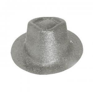 Minihat cowboy glitter silver
