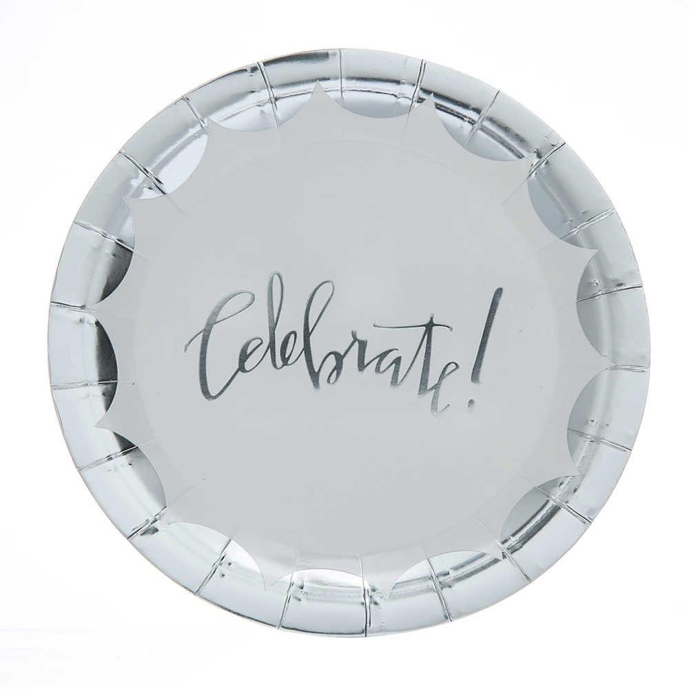 Stora Celebrate! silver tallrikar