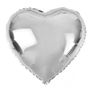 Folie ballong hjärta silver