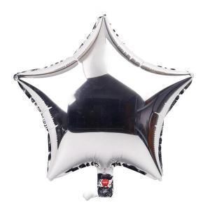 Stjärn folieballong L Silver