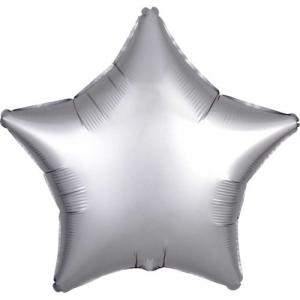 Folie ballong satin Stjärna Silver