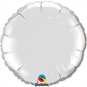 Cirkel folieballong XL Silver