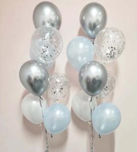 Chromékonfetti 7st latexballonger 5