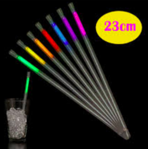 Glowstick Sugrör