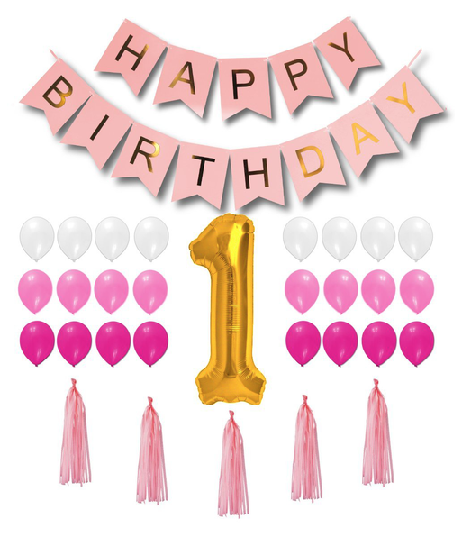 rosa födelsedags mega kit