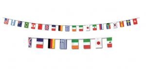 världens flaggor 10m girlang