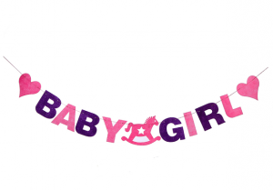 Baby shower girland girl