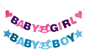 Baby shower girland boy eller girl