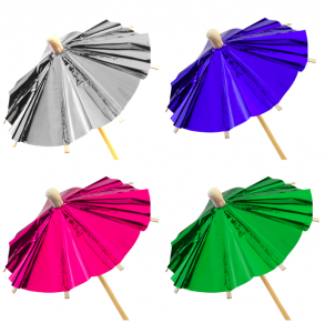 Parasoller cocktail umbrellas folie 24pack