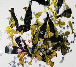 Nyår konfetti för dukning