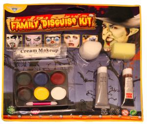 ansiktsfärgkit för Halloween