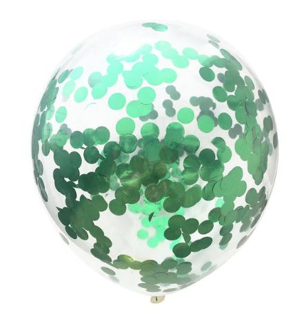 Konfetti ballong grön