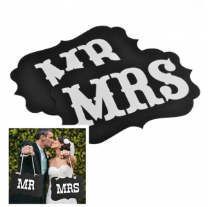 Mr & Mrs svart PhotoBooth