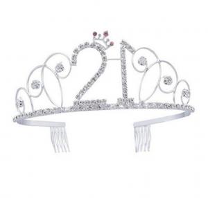 21 strass födelsedags tiara