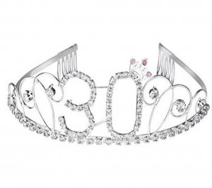 30 strass födelsedags tiara