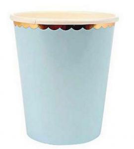 Pappersmugg Pastell Ljusblå 10-pack