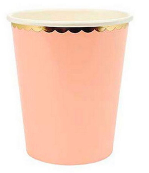 Pappersmugg Pastell Persika 10-pack