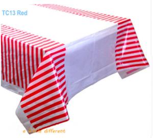 Budget Bordsduk Röd Randig