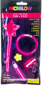 Glowstick Set Rosa 4-pack