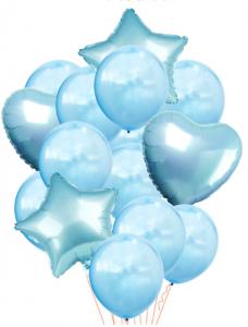 Ballongbukett 14st Blå