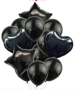 Ballongbukett 14st Svart