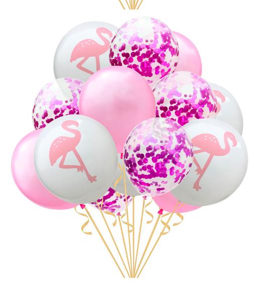 Ballongbukett Flamingo 14st