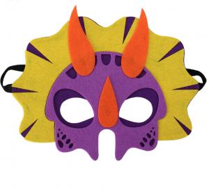 Drak mask lila med oranga horn