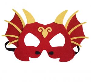 Drak mask röd med gula horn