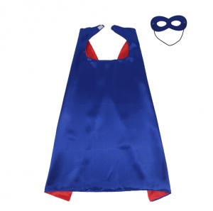 Cape för barn med mask blå