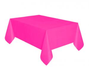 Bordsduk Plast Ceriserosa