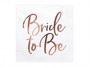 Servetter Bride to be Rose 33x33cm