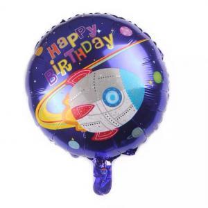 rymden Happy birthday foileballong