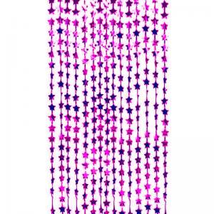 Draperi stjärnor Cerise rosa
