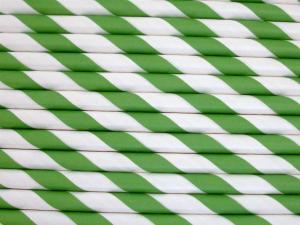 Papperssugrör grön spiral