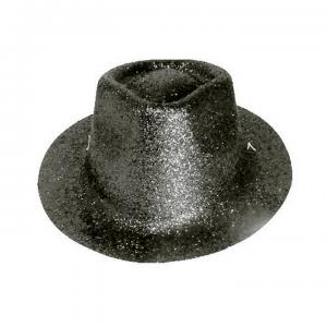 Minihat cowboy glitter svart