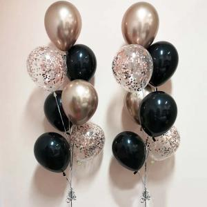 Chromékonfetti 7st latexballonger 9