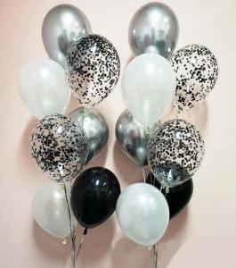 Chromékonfetti 7st latexballonger 16