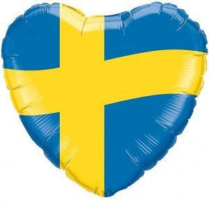 Heliumballong Sverige Flagga