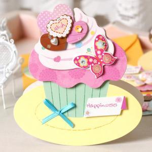 Hälsningskort Bakelser muffin med fjäril
