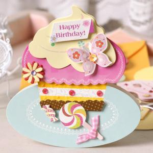 Hälsningskort Bakelser muffin Happy birthday
