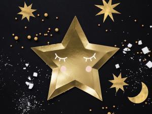 Papperstallrik Stjärna, 27cm