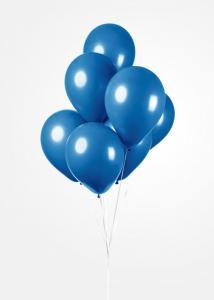 Latexballonger Kunglig  Blå
