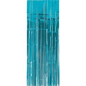 glitter Dörr draperi turkos blå