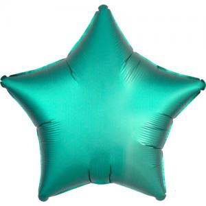 Folie ballong satin Stjärna Turkos