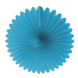 Pappers solfjäder turkosblå